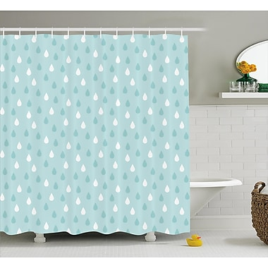East Urban Home Separate Droplets Decor Shower Curtain; 69'' H x 84'' W