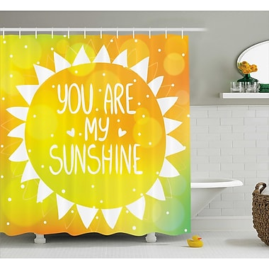 East Urban Home Triangles Dots Quotes Decor Shower Curtain; 69'' H x 84'' W