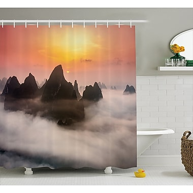 East Urban Home Chinese Mountains Decor Shower Curtain; 69'' H x 75'' W