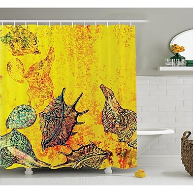East Urban Home Stylized Seashells Shower Curtain; 69'' H x 84'' W