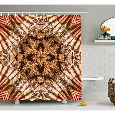 East Urban Home Tie Dye Decor Shower Curtain; 69'' H x 70'' W