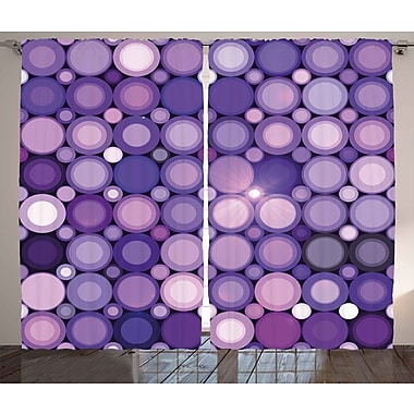 East Urban Home Circular w/ Hoops Room Darkening Rod Pocket Curtain Panels (Set of 2); 54'' x 84''