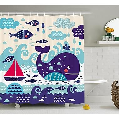 Zoomie Kids Ganley Marine Traffic Decor Shower Curtain; 69'' H x 84'' W