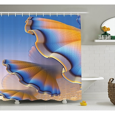 East Urban Home Gradient Shell Shower Curtain; 69'' H x 84'' W