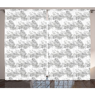 East Urban Home Spherical Abstract Room Darkening Rod Pocket Curtain Panels (Set of 2); 54'' x 84''