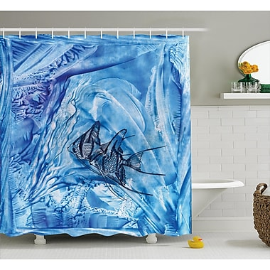 East Urban Home Decor Water-Resistant Shower Curtain; 69'' H x 70'' W