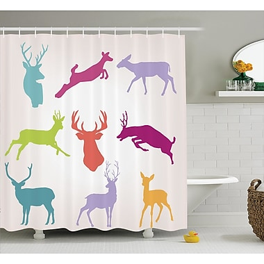 East Urban Home Wilderness Nature Shower Curtain; 69'' H x 70'' W