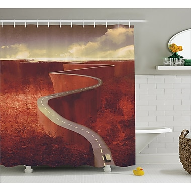 East Urban Home Scenic Road Decor Shower Curtain; 69'' H x 84'' W