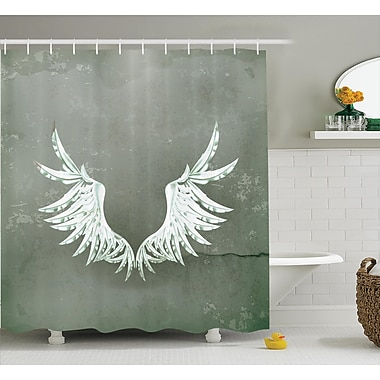 East Urban Home Old-Fashion Arms Wings Decor Shower Curtain; 69'' H x 70'' W