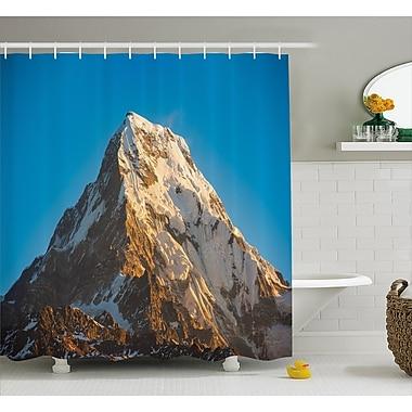 East Urban Home Panoramic Himalayas Decor Shower Curtain; 69'' H x 84'' W
