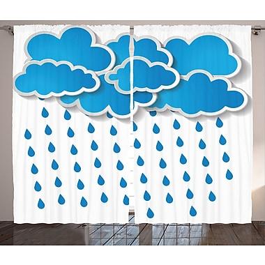 East Urban Home Rain Drips D cor Graphic Print Room Darkening Rod Pocket Curtain Panels (Set of 2)