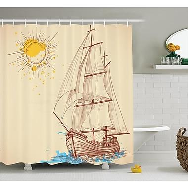 East Urban Home Sailing Boat Nautical Decor Shower Curtain; 69'' H x 84'' W