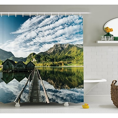 East Urban Home Clouds On Wild Valley Decor Shower Curtain; 69'' H x 75'' W