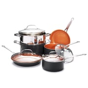Gotham Steel Non Stick Fry Pan Kitchen 10-Piece Cookware Set, Copper/Brown