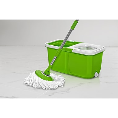 Big Boss InstaMop Spinning Mop, Green/White