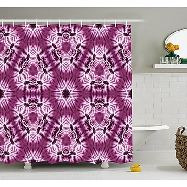 East Urban Home Oriental Trippy Motive w/ Morphing Spotted Decor Shower Curtain; 69'' H x 75'' W