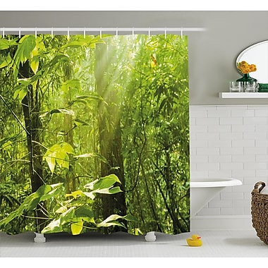 East Urban Home Forest w/ Sunray Shower Curtain; 69'' H x 75'' W