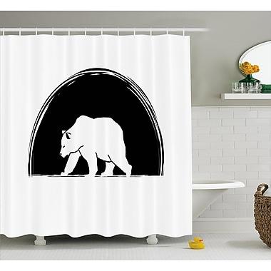 East Urban Home Bear Walking Side Shower Curtain; 69'' H x 75'' W