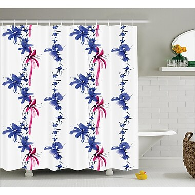 East Urban Home Irises In Watercolor Decor Shower Curtain; 69'' H x 75'' W