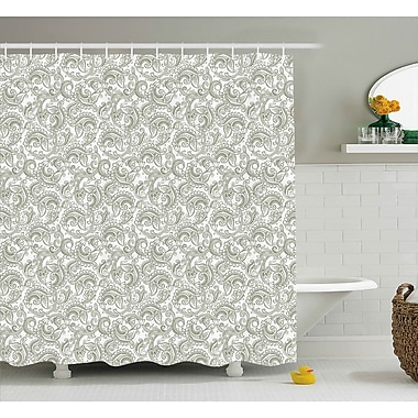 East Urban Home Traditional Damask Shower Curtain; 69'' H x 84'' W