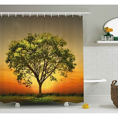 East Urban Home Landscape Shower Curtain; 69'' H x 70'' W