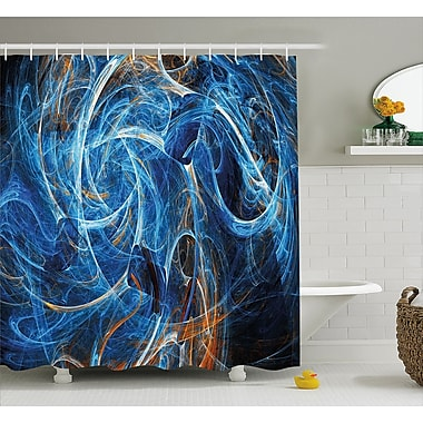 East Urban Home Abstract Curves Shower Curtain; 69'' H x 84'' W