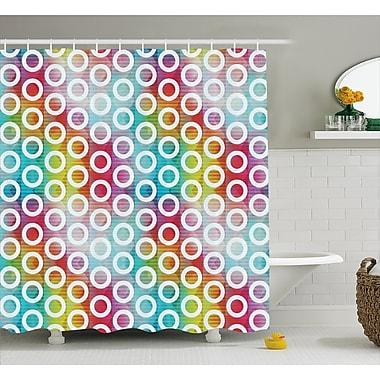 East Urban Home Bubble Fractal Decor Shower Curtain; 69'' H x 84'' W