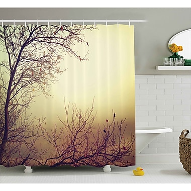 East Urban Home Vintage Leafless Shower Curtain; 69'' H x 70'' W