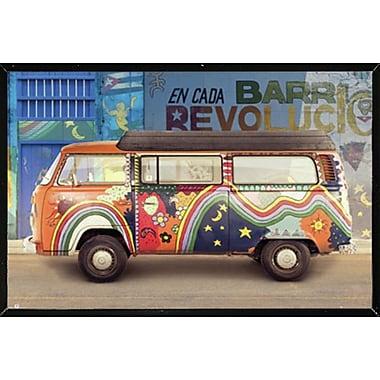 East Urban Home 'VW Camper Cuba' Horizontal Framed Graphic Art Print Poster