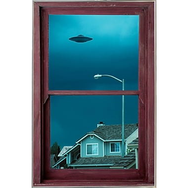 East Urban Home 'UFO Window' Metal Framed Graphic Art Print Poster
