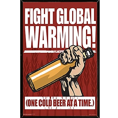 East Urban Home 'Fight Global Warming' Rectangle Framed Textual Art Poster