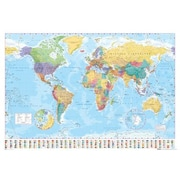 East Urban Home 'World Map' Graphic Art Print Poster