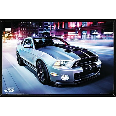 East Urban Home 'Ford Shelby GT500 2014' Hardboard Framed Graphic Art Print Poster