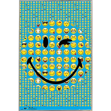East Urban Home 'Smiley Smile' Framed Graphic Art Print Poster
