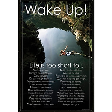 East Urban Home 'Wake Up!!' Framed Textual Art Poster