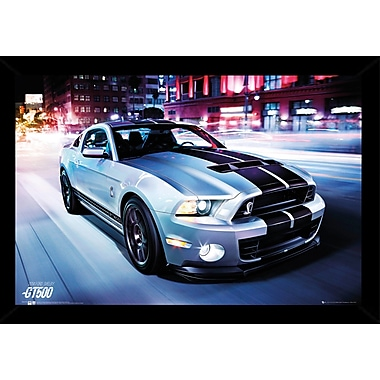 East Urban Home 'Ford Shelby GT500 2014' Framed Graphic Art Print Poster