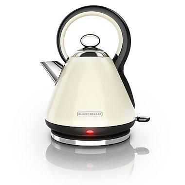 Black & Decker 1.8 Qt. Stainless Steel Electric Tea Kettle; White