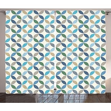 George Oliver Fayston Pastel Oval Decor Room Darkening Rod Pocket Curtain Panels (Set of 2)