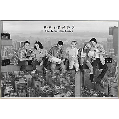 Frame USA 'Friends - Black & White' Framed Graphic Art Print Poster; Silver Metal Framed