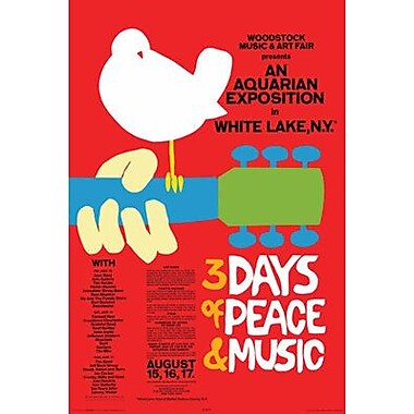 Frame USA 'Woodstock Red' Graphic Art Print Poster