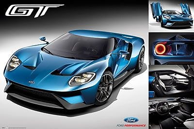 Frame USA 'Ford GT 2016' Graphic Art Print Poster