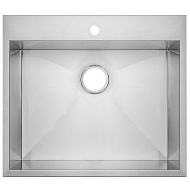GoldenVantage 25'' x 22'' Drop-In Kitchen Sink