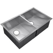 GoldenVantage 33'' x 22'' Double Basin Undermount Kitchen Sink