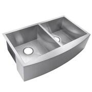 GoldenVantage 33'' x 22'' Double Basin Apron Kitchen Sink