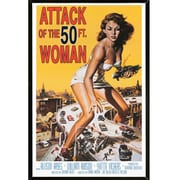 East Urban Home 'Attack of the 50 Foot Women' Black Framed Graphic Art Print Poster