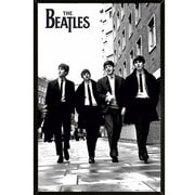 East Urban Home 'The Beatles In London' Rectangle Framed Graphic Art Print Poster; Black Framed