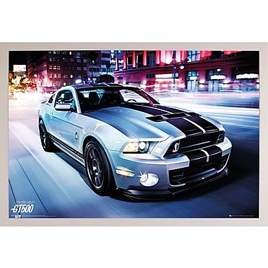 East Urban Home 'Ford Shelby GT500 2014' Horizontal Framed Graphic Art Print Poster