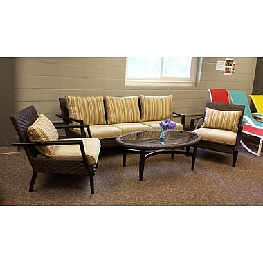 World Menagerie Favor 4 Piece Deep Seating Set w/ Cushions