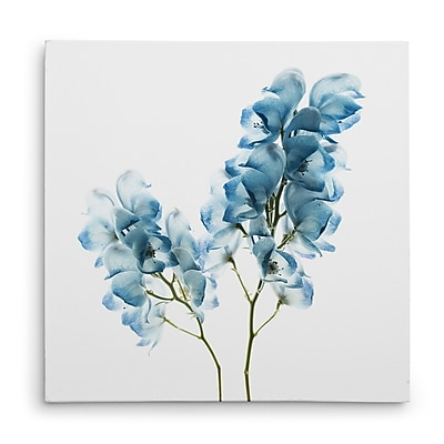 Ivy Bronx 'Gorgeous Blue II' Oil Painting Print on Wrapped Canvas; 16'' H x 16'' W
