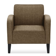 Ivy Bronx Janiyah Classic Upholstered Arm Chair; Brown